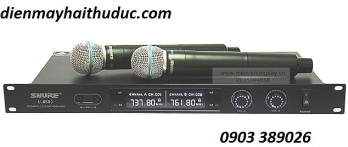 Micro không dây Shure U8600 Thiết kế đơn giản, kiểu dáng hiện đại2