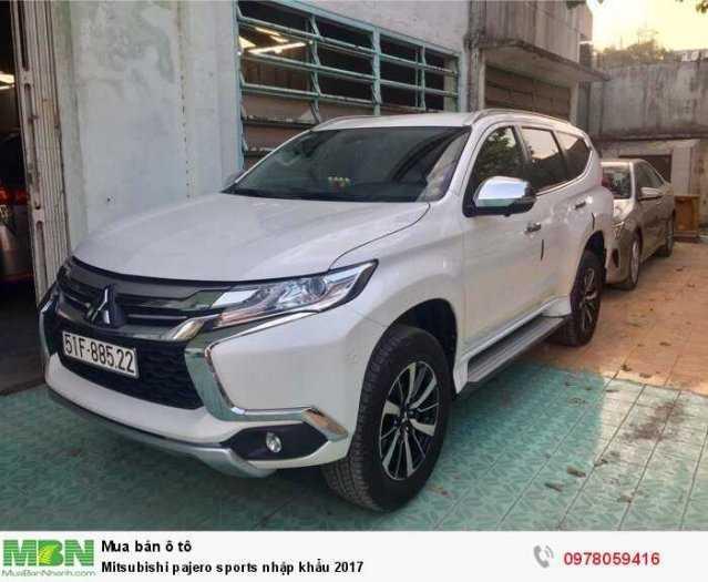 Mitsubishi pajero sports nhập khẩu 2017