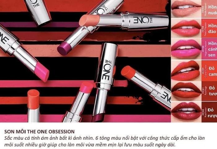 Son lì dạng kem Oriflame 35156 The One – màu Peach Passion3