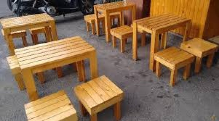 bàn ghế cafe mây nhựa giá rẻ tại xưởng sản xuất HGH 529