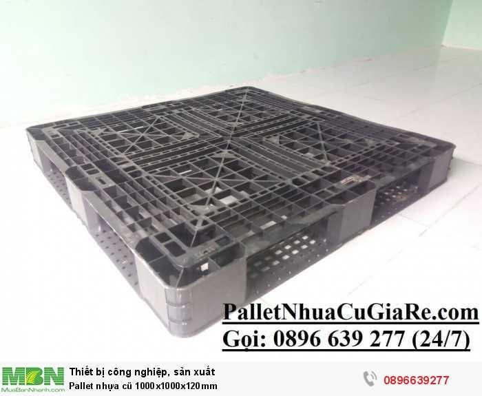 Pallet nhựa cũ 1000x1000x120mm - Gọi 0896639277 (24/24)