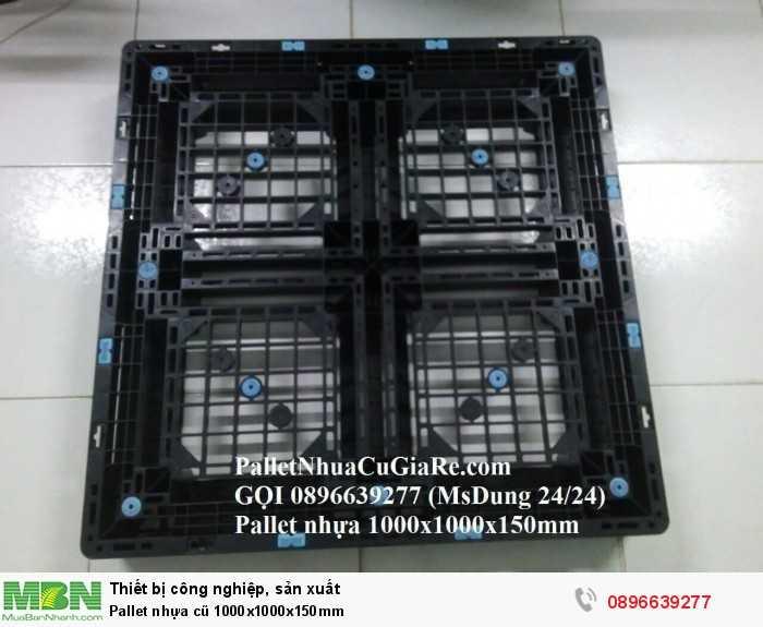 Pallet nhựa cũ 1000x1000x150mm - Gọi 0896639277 (24/24)