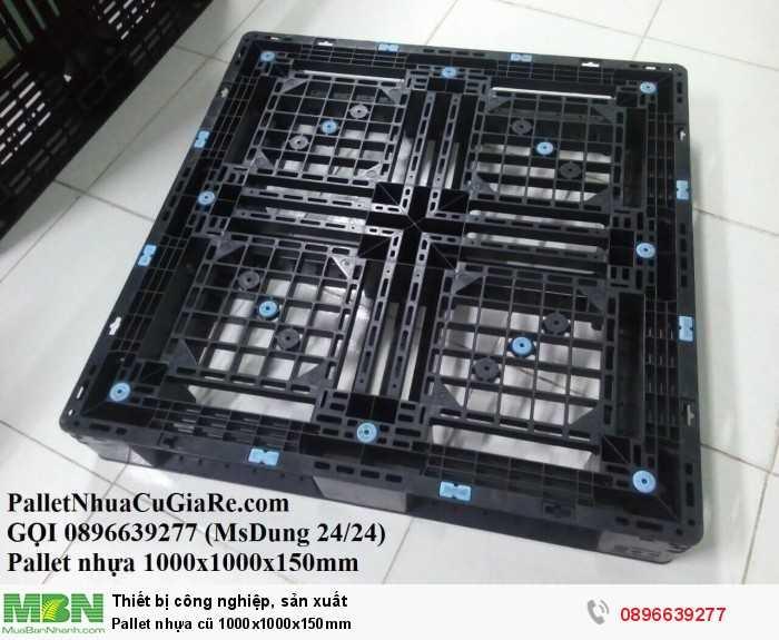 Giá pallet nhựa cũ 1000x1000x150mm - Gọi 0896639277 (24/24)
