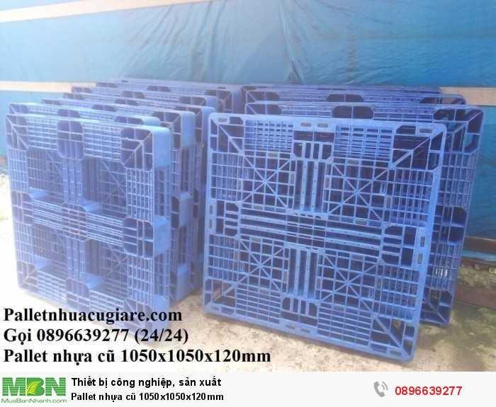 Pallet nhựa cũ 1050x1050x120mm - Gọi 0896639277 (24/24)0