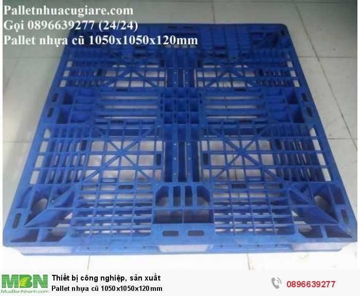 Bán pallet nhựa cũ 1050x1050x120mm - Gọi 0896639277 (24/24)1