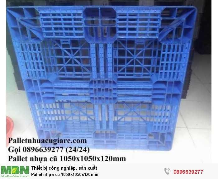 Pallet nhựa cũ 1050x1050x120mm - Gọi 0896639277 (24/24)4