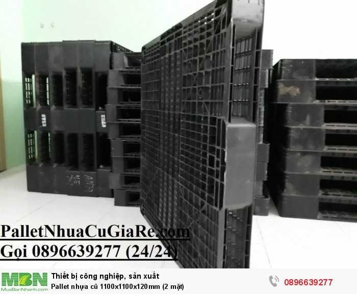 Mua pallet nhựa cũ 1100x1100x120mm (2 mặt) - Gọi 0896639277 (24/24)3