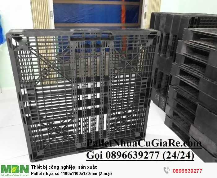Bán pallet nhựa cũ 1100x1100x120mm (2 mặt) - Gọi 0896639277 (24/24)4