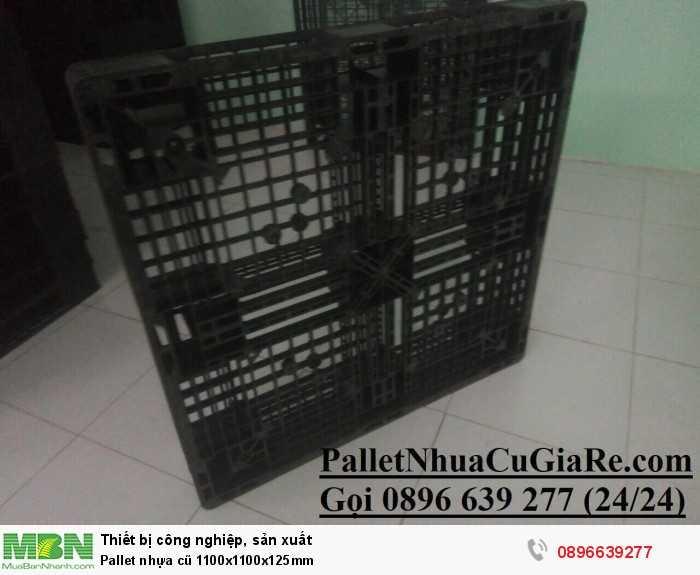 Pallet nhựa cũ 1100x1100x125mm - Gọi 0896639277 (24/24)