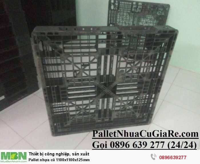 Giá pallet nhựa cũ 1100x1100x125mm - Gọi 0896639277 (24/24)