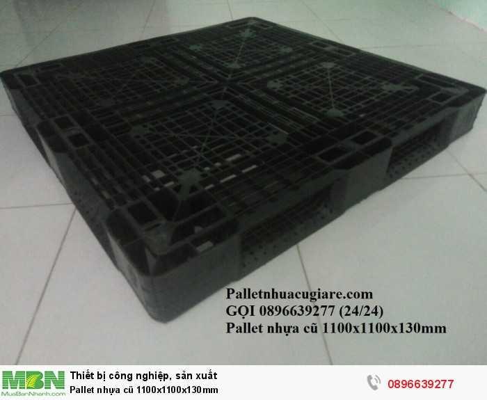 Pallet nhựa cũ 1100x1100x130mm - Gọi 0896639277 (24/24)