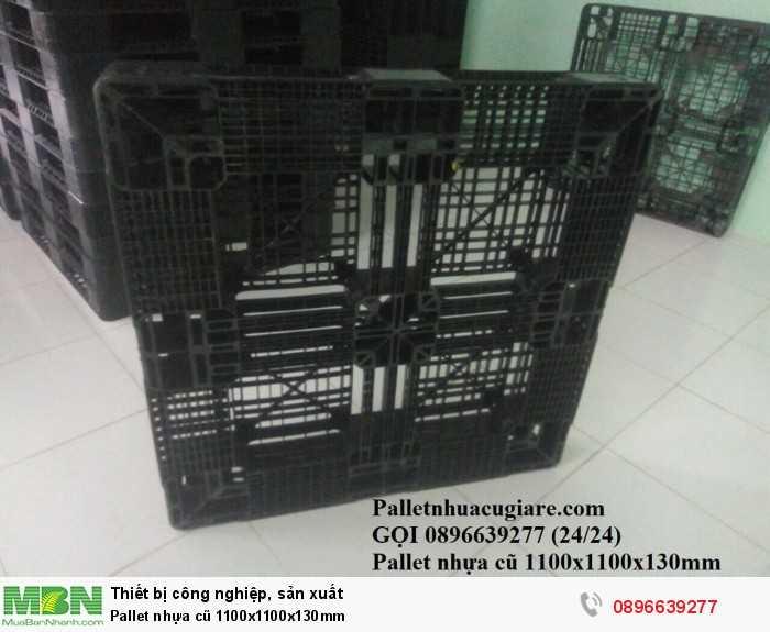 Mua pallet nhựa cũ 1100x1100x130mm - Gọi 0896639277 (24/24)