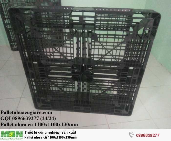 Bán pallet nhựa cũ 1100x1100x130mm - Gọi 0896639277 (24/24)