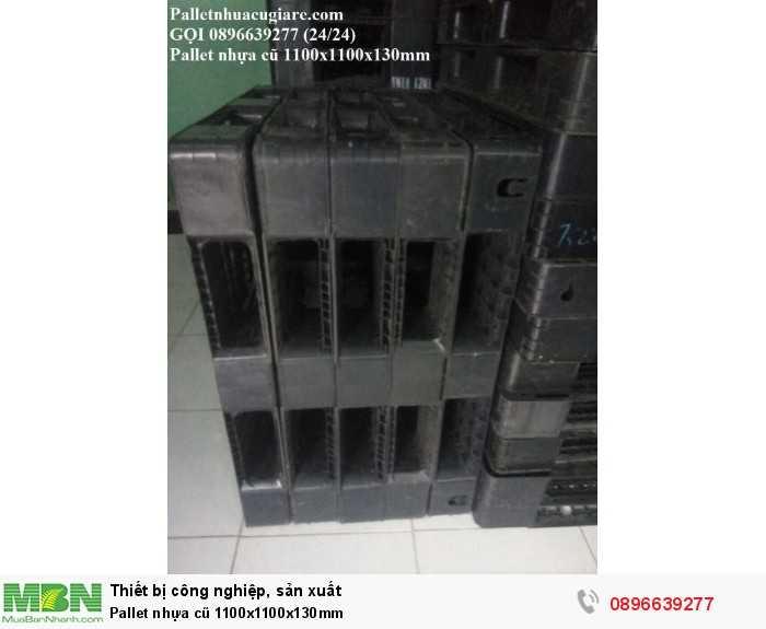 Giá pallet nhựa cũ 1100x1100x130mm - Gọi 0896639277 (24/24)
