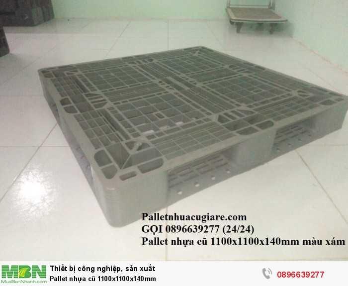 Bán pallet nhựa cũ 1100x1100x140mm - Gọi 0896639277 (24/24)