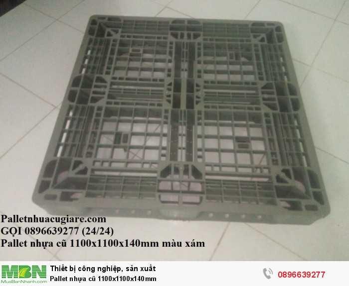 Mua pallet nhựa cũ 1100x1100x140mm - Gọi 0896639277 (24/24)