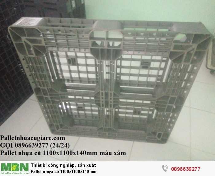 Giá pallet nhựa cũ 1100x1100x140mm - Gọi 0896639277 (24/24)