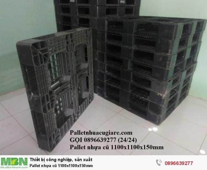 Bán pallet nhựa cũ 1100x1100x150mm - Gọi 0896639277 (24/24)