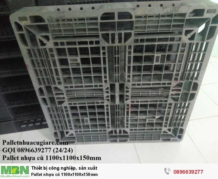 Khuyến mãi mua pallet nhựa cũ 1100x1100x150mm - Gọi 0896639277 (24/24)