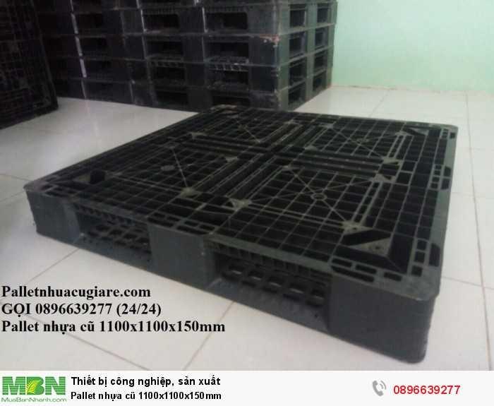 Pallet nhựa cũ 1100x1100x150mm - Gọi 0896639277 (24/24)