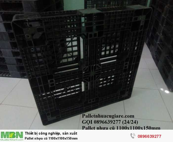 Pallet nhựa cũ 1100x1100x150mm - Gọi 0896639277 (24/24)4