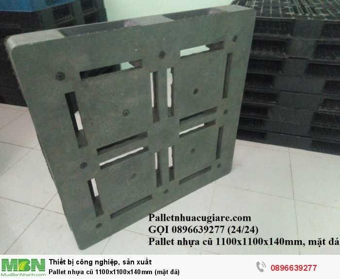 Bán pallet nhựa cũ 1100x1100x150mm (mặt đá) - Gọi 0896639277 (24/24)