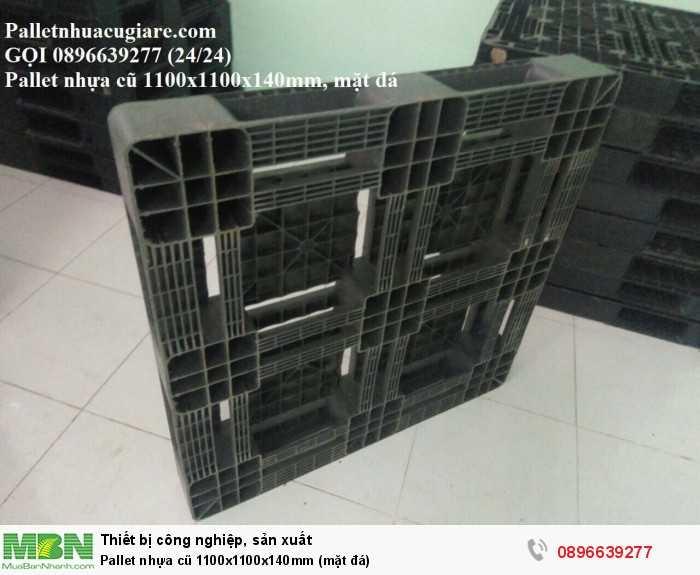 Pallet nhựa cũ 1100x1100x150mm (mặt đá) - Gọi 0896639277 (24/24)