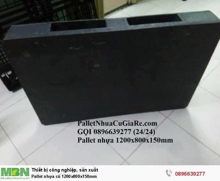 Pallet nhựa cũ 1200x800x150mm - Gọi 0896639277 (24/24)0