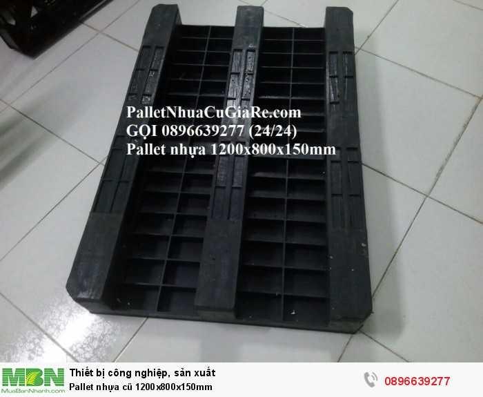 Bán pallet nhựa cũ 1200x800x150mm - Gọi 0896639277 (24/24)2