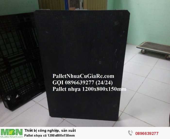 Pallet nhựa cũ 1200x800x150mm - Gọi 0896639277 (24/24)3