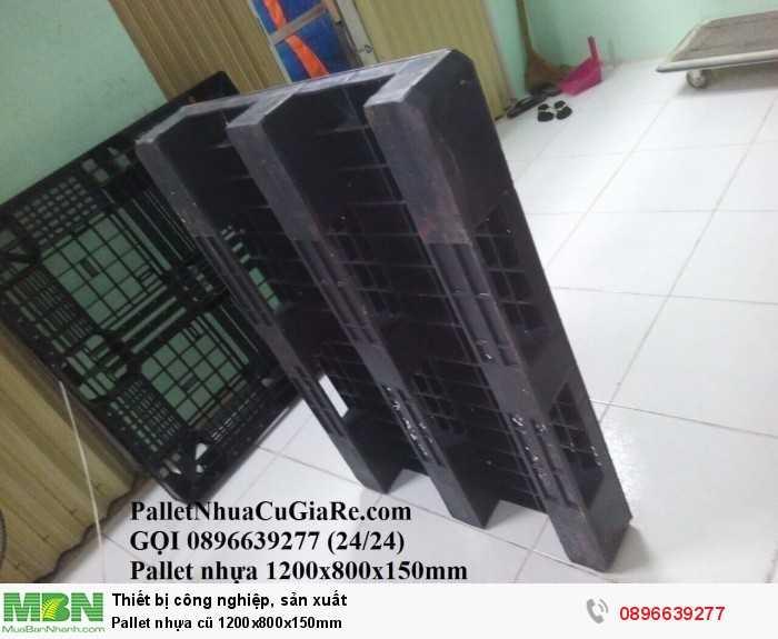 Pallet nhựa cũ 1200x800x150mm - Gọi 0896639277 (24/24)4