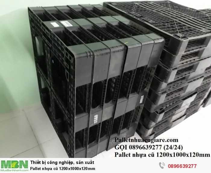 Pallet nhựa cũ 1200x1000x120mm - Gọi 0896639277 (24/24)