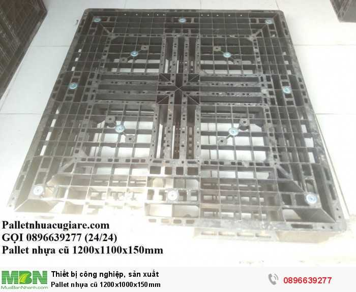 Pallet nhựa cũ 1200x1000x150mm - Gọi 0896639277 (24/24)2