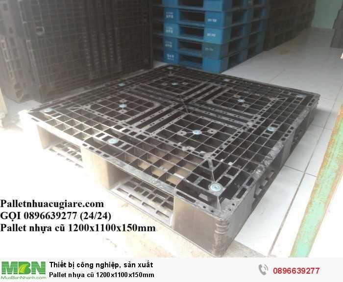 Pallet nhựa cũ 1200x1100x150mm - Gọi 0896639277 (24/24)