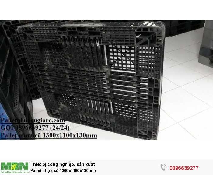 Pallet nhựa cũ 1300x1100x130mm - Gọi 0896639277 (24/24)0