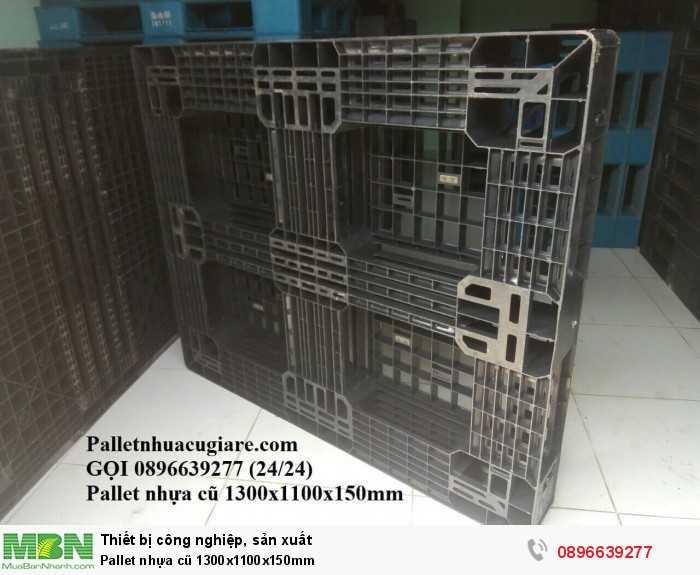 Pallet nhựa cũ 1300x1100x150mm - Gọi 0896639277 (24/24)