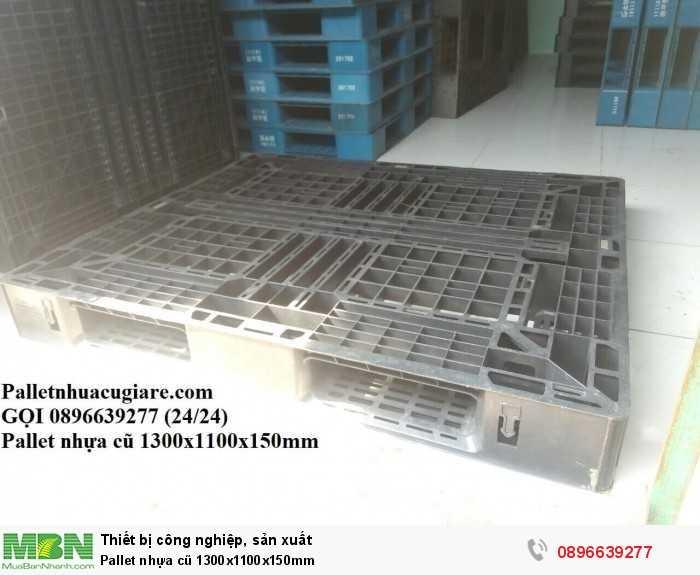 Giá pallet nhựa cũ 1300x1100x150mm - Gọi 0896639277 (24/24)