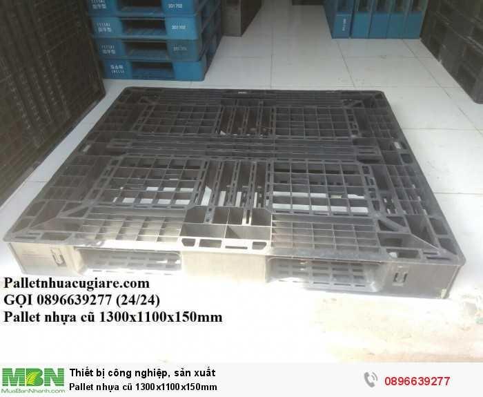 Bán pallet nhựa cũ 1300x1100x150mm - Gọi 0896639277 (24/24)