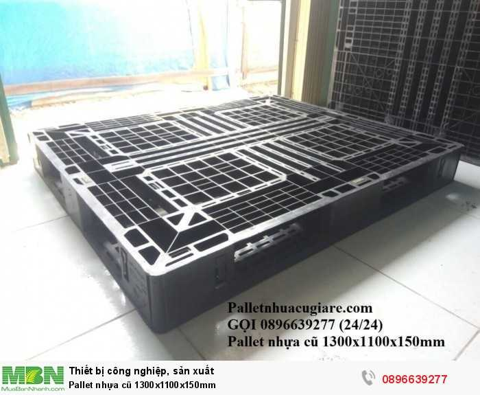 Khuyến mãi mua pallet nhựa cũ 1300x1100x150mm - Gọi 0896639277 (24/24)