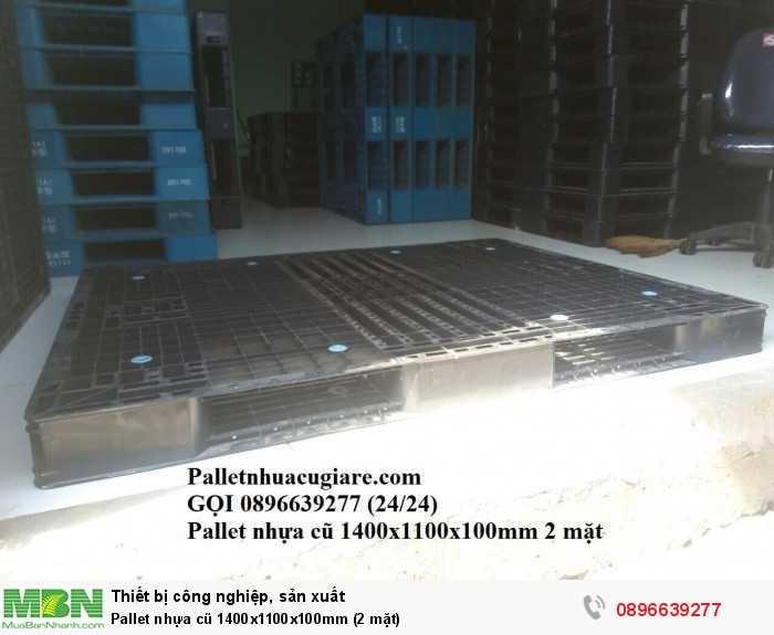 Giá pallet nhựa cũ 1400x1100x100mm (2 mặt) - Gọi 0896639277 (24/24)2