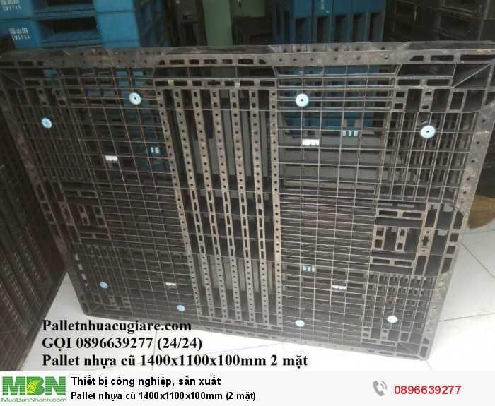 Pallet nhựa cũ 1400x1100x100mm (2 mặt) - Gọi 0896639277 (24/24)3