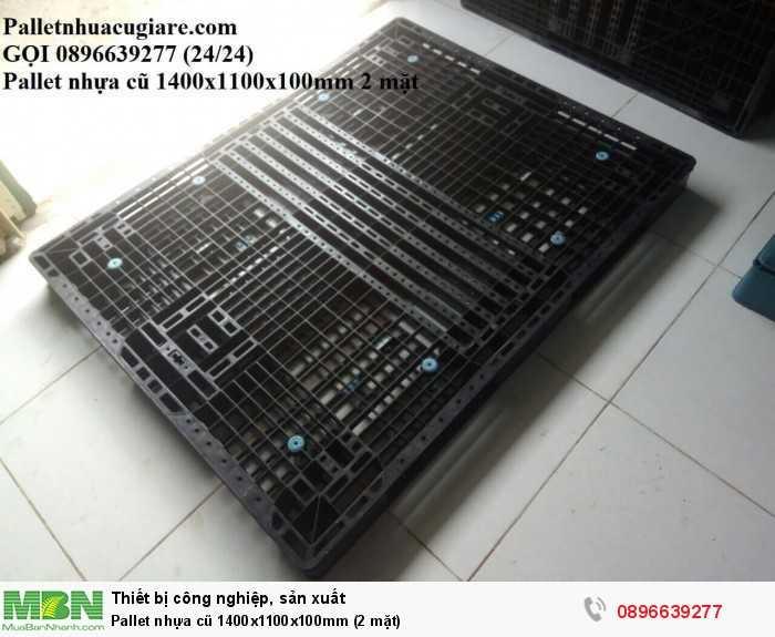 Pallet nhựa cũ 1400x1100x100mm (2 mặt) - Gọi 0896639277 (24/24)4