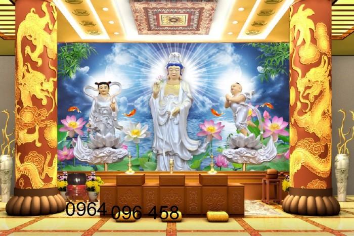 Tranh phật 3d tôn giáo - gạch tranh ốp tường3