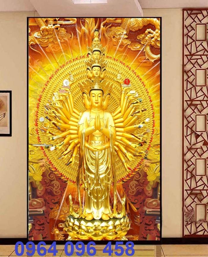 Tranh phật 3d tôn giáo - gạch tranh ốp tường1