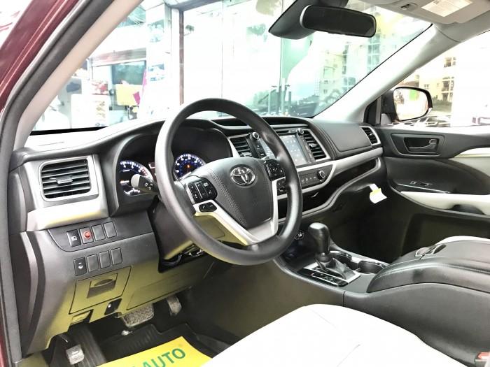 Bán Toyota Highlander sản xuất 2018, màu đỏ, xe nhập Mỹ biển HN 16