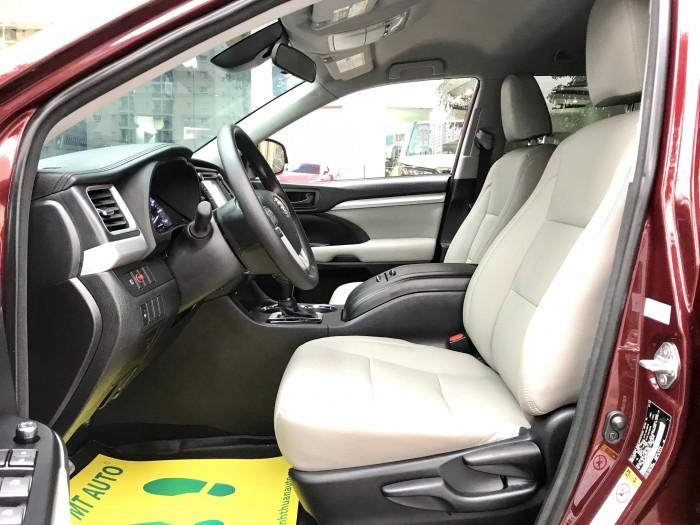 Bán Toyota Highlander sản xuất 2018, màu đỏ, xe nhập Mỹ biển HN 14