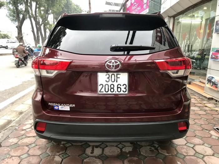 Bán Toyota Highlander sản xuất 2018, màu đỏ, xe nhập Mỹ biển HN 9