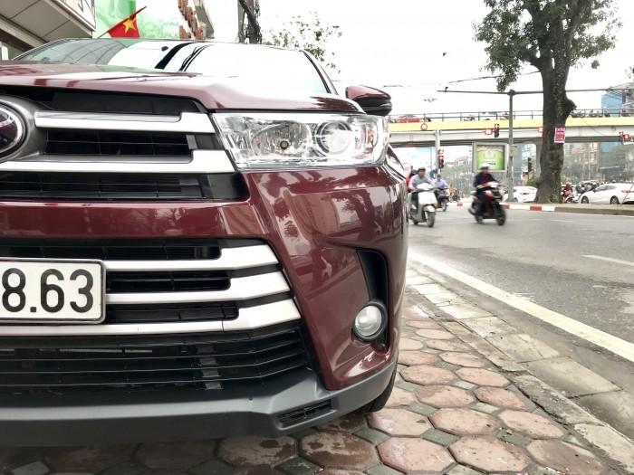 Bán Toyota Highlander sản xuất 2018, màu đỏ, xe nhập Mỹ biển HN 8