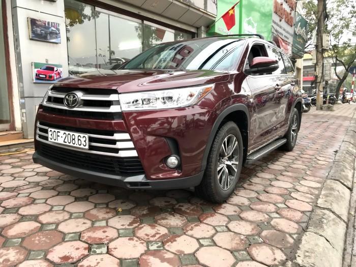Bán Toyota Highlander sản xuất 2018, màu đỏ, xe nhập Mỹ biển HN 5
