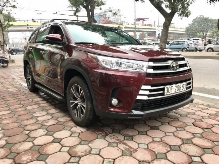 Bán Toyota Highlander sản xuất 2018, màu đỏ, xe nhập Mỹ biển HN
